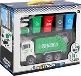 Toi-toys Vuilniswagen Junior 33,5 X 10 Cm Groen/wit 6-delig