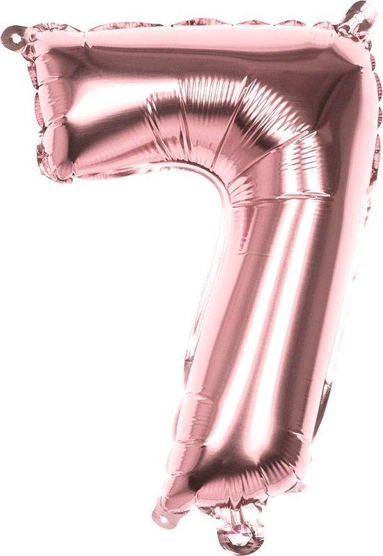 Boland Cijferballon 7 Folie 66 Cm Roségoud