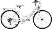 Ks Cycling Fiets Dames stadsfiets Toscane 6 versnellingen 26 inch wit - 41 cm