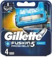 Gillette Fusion Proshield 5 Chill Scheermesjes - 4 STUKS - Zwart