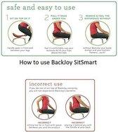 Backjoy SitSmart Posture Plus Rood - Rugsteun Zithouding Bureaustoel Auto - Rugpijn Onderrug
