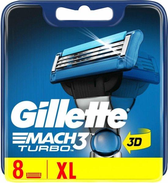 Gillette Mach 3 Turbo Scheermesjes 8 stuks