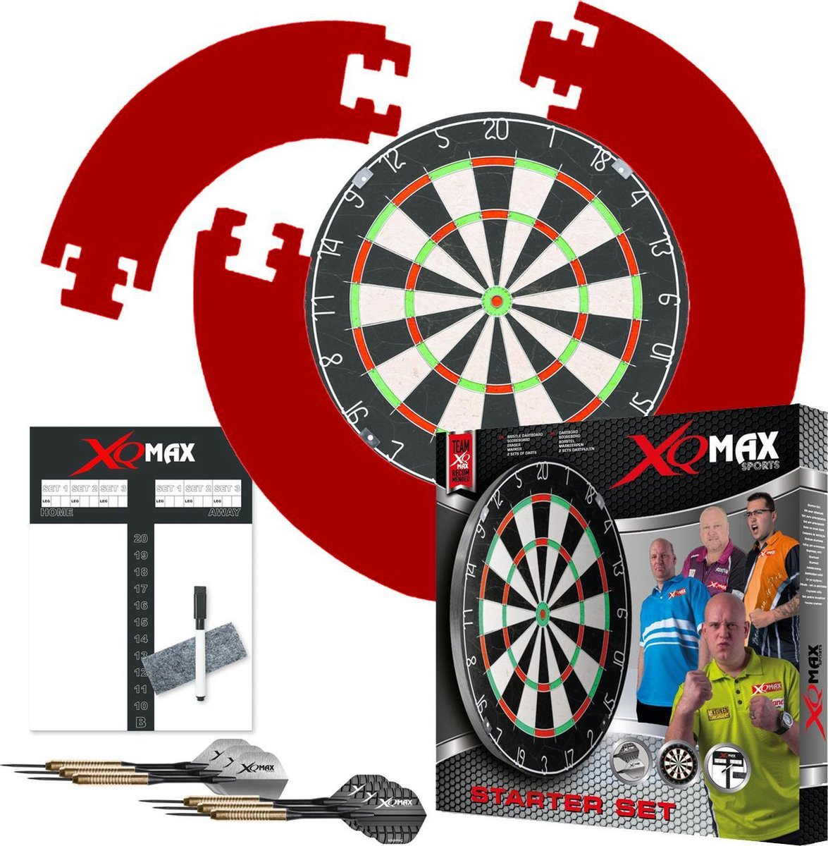 XQmax - Dartbord met 2 sets Dartpijlen en Surround Ring - rood