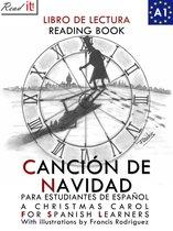 Cancion de Navidad para estudiantes de español. Libro de lectura Nivel A1. Principiantes.