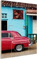 Kleurrijk Cuba Hout 60x80 cm - Foto print op Hout (Wanddecoratie)