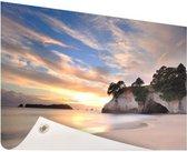Cathedral Cove Nieuw-Zeeland  Tuinposter 120x80 cm - Tuindoek / Buitencanvas / Schilderijen voor buiten (tuin decoratie) / Zee en Strand
