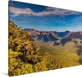 Uitkijkpost in Nationaal park Blue Mountains in Australië Canvas 180x120 cm - Foto print op Canvas schilderij (Wanddecoratie woonkamer / slaapkamer) XXL / Groot formaat!