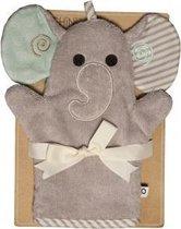 Zoocchini washandje - Elli the Elephant Olifant grijs