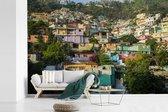Fotobehang vinyl - Een kleurrijke buurt in Port-au-Prince van Haïti breedte 330 cm x hoogte 220 cm - Foto print op behang (in 7 formaten beschikbaar)