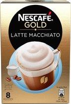 Nescafé Gold Latte Macchiato Oploskoffie - 6 x 8 zakjes