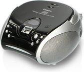 Lenco SCD-24 - Draagbare Radio/CD-speler - Zwart/Zilver