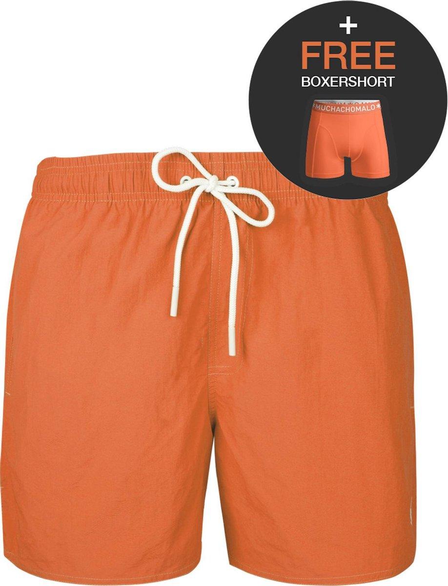 Muchachomalo rits zwemshort basic oranje - 3XL