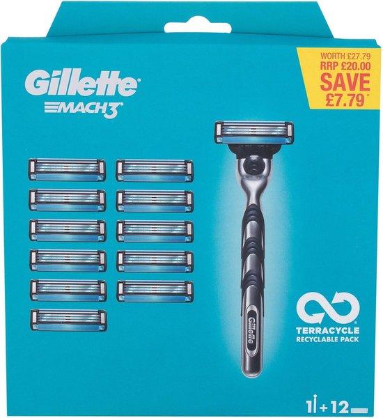 Gillette - Mach3 Set - Holící strojek s náhradními břity (M)
