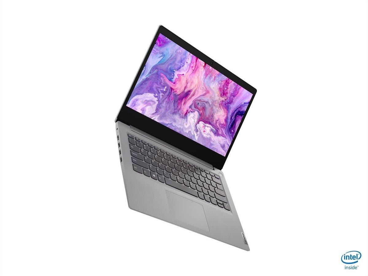 """Lenovo IdeaPad 3 DDR4-SDRAM Notebook 35,6 cm (14"""") 1920 x 1080 Pixels Intel® 10de generatie Core™ i5 8 GB 256 GB SSD Wi-Fi 6 (802.11ax) Windows 10 Home Grijs, Platina"""