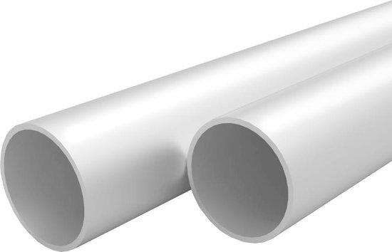 vidaXL Buizen rond 2m Ø35x2mm aluminium 4 st  VDXL_143218
