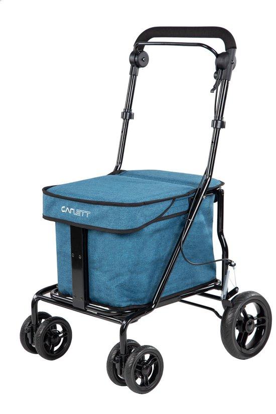 Carlett Lett700 Boodschappentrolley - 32 L - 4 wielen - zitten - opvouwbaar - veiligheidsrem - Turkoois