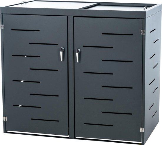 Clp Tanis Containerberging - Antraciet 132x80x116 cm