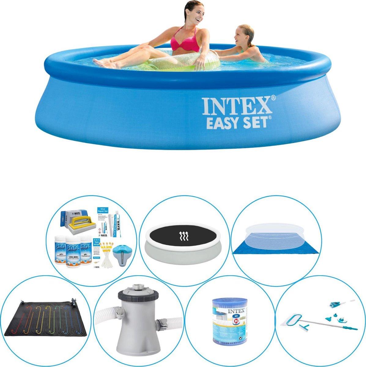 Intex Easy Set Rond 244x61 cm - Alles in 1 Zwembad Set