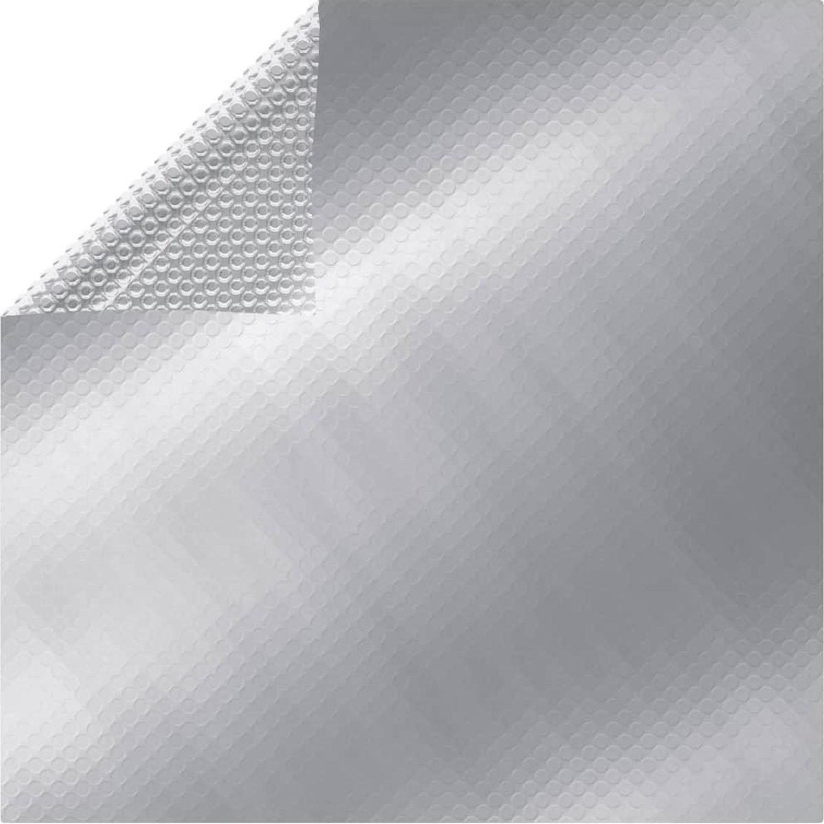 vidaXL Zwembadfolie solar drijvend rechthoekig 6x4 m PE zilverkleurig