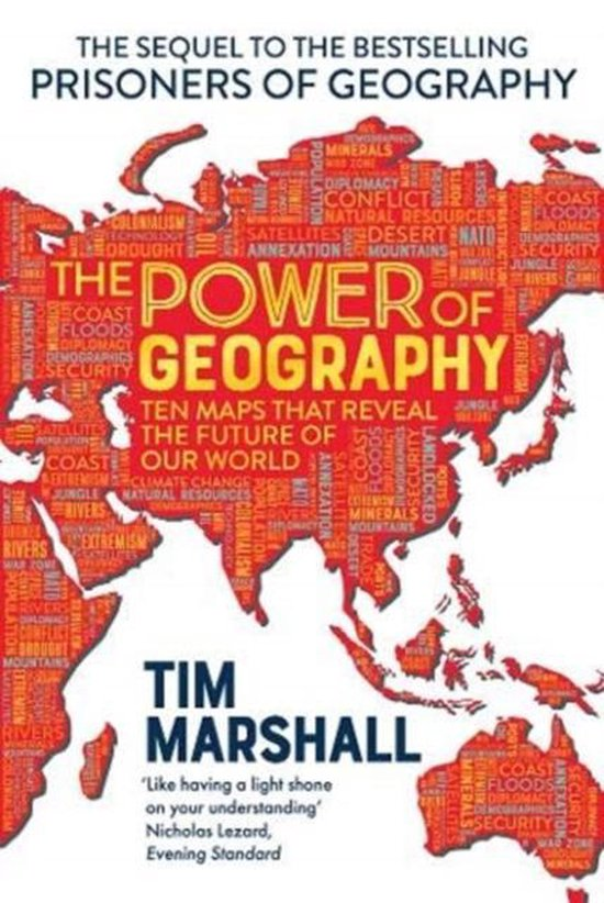 Boek cover The Power of Geography van Tim Marshall (Paperback)