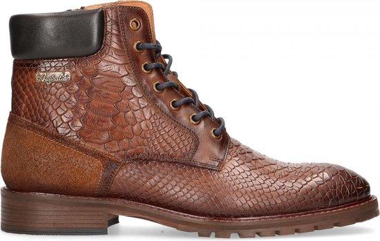 Australian Footwear  - Denzel  Leather - Mens - Cognac-Blue - 43