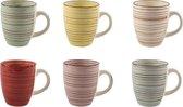 Koffiemokken (6 stuks) | Kleurrijk | Koffiekopjes