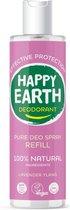 Happy Earth Pure Deodorant Spray Navulling Lavender Ylang 300 ml - 100% natuurlijk