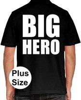 BIG Hero grote maten poloshirt zwart voor heren - Plus size BIG Hero polo t-shirt 3XL