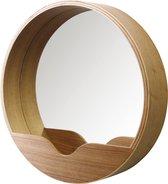 Round wall spiegel - Zuiver - Bruin