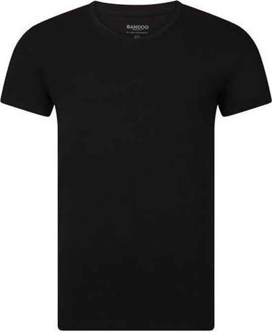 Bandoo Underwear Heren Bamboe Ondergoed T-Shirt Olaf – Functioneel en Comfortabel - Zijdezachte Bamboe - Antibacterieel en Absorberend – Heren Ondergoed - Ronde hals - 2-pack - Black - L