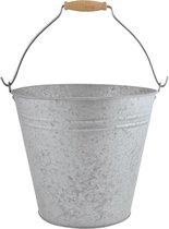 Esschert Design Decoratieve Emmer 32,7 Cm Zink 9,5 Liter Grijs