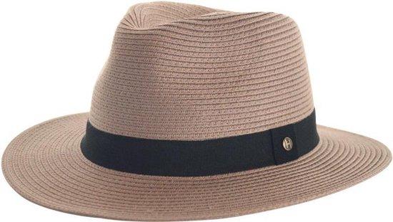 Panama Fedora UV-werende Reishoed - UPF50+ Kreukbestendig - Dames & Heren Hoed - Maat: 61cm - Kleur: Taupe