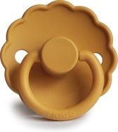 FRIGG Fopspeen Daisy maat 2 - 6-18 maanden - Honey Gold - Natuurrubber