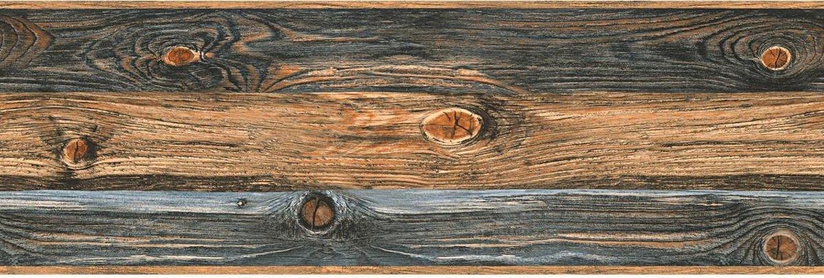 Houten plank BEHANGRAND - beige bruin grijs - AS Creation