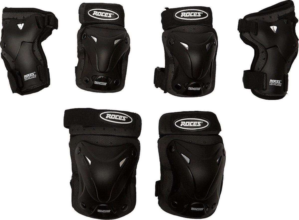 Roces Ventilated 3-Pack Skate Beschermingsset Zwart - Maat XL