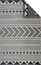 Alice's Garden Buitentapijt BAMAKO - 180x270cm  - Tweezijdig - zwart/beige