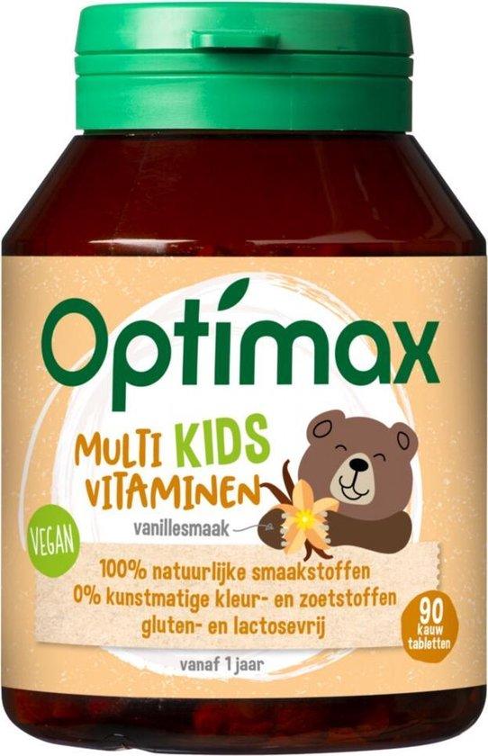 Optimax Kids Multivitaminen - Vanille - 90 kauwtabletten