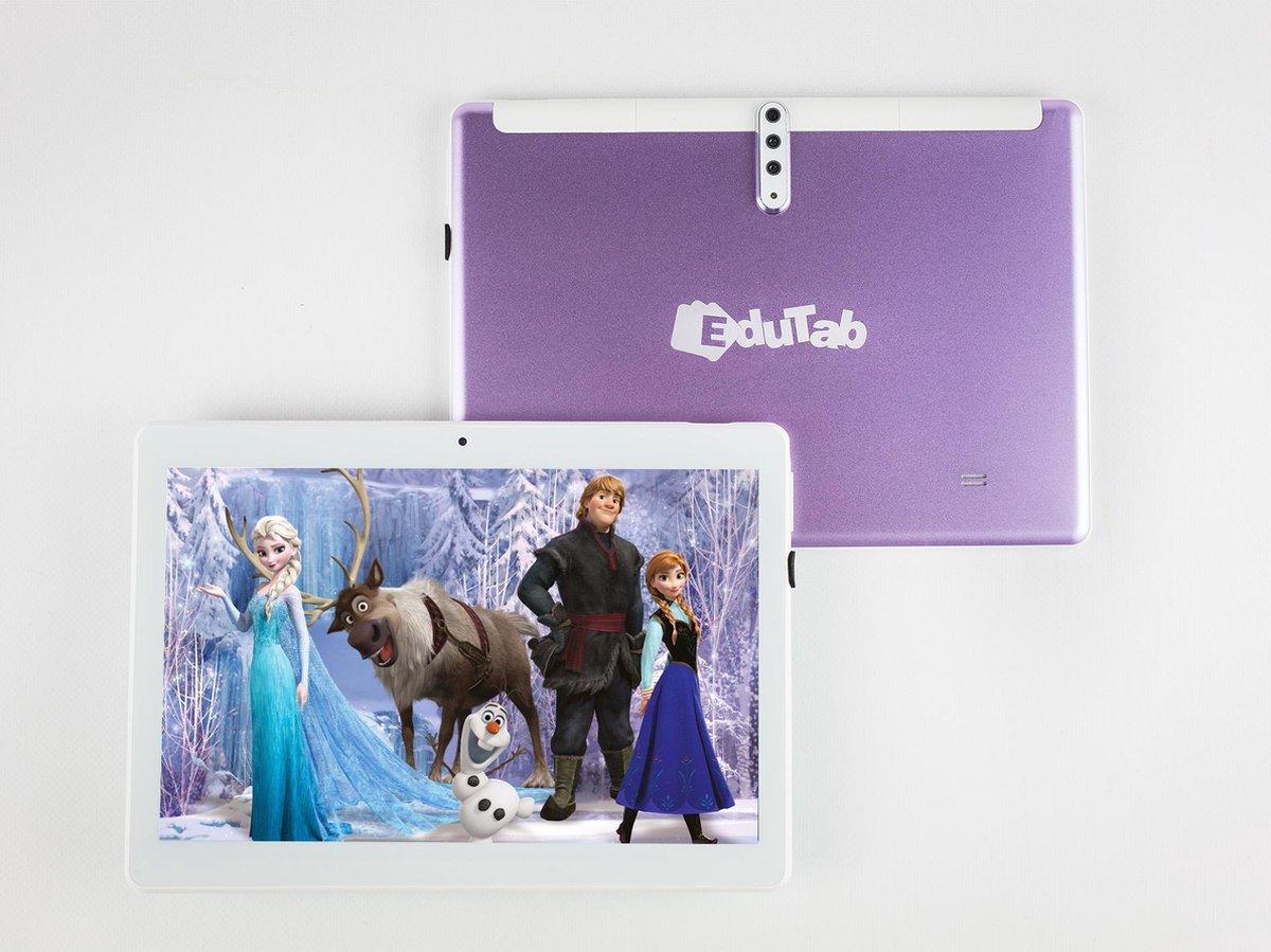 EduTab – Educatieve Kindertablet – 10 inch – 16GB – 3 Camera's – 5MP – 4G – Android 9.0 – Incl. Gratis Toetsenbord & Tablethouder – Paars
