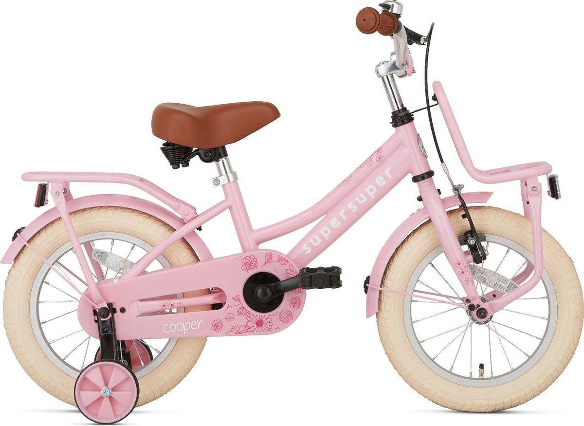 Supersuper Cooper Kinderfiets - Meisjes - 14 inch - Roze