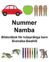 Svenska-Swahili Nummer/Namba Bildordbok foer tvasprakiga barn