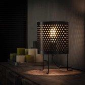 Dimehouse Industriële Vloerlamp - Bennet - 22 cm - Zwart - Kokervormig
