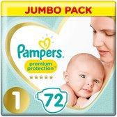 Pampers Premium Protection - Maat 1 (New Born) 2-5 kg - 72 Stuks - Luiers