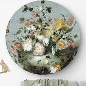 HIP ORGNL Bloemen Guardi - Francesco Guardi | rond schilderij | wandcirkel | muurcirkel | ronde oude meesters | ⌀ 120 cm | wanddecoratie | kunstwerken | dibond | aluminium