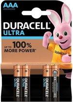 Duracell Ultra Power AAA Batterij LR03 - Niet Oplaadbaar - 4-Pack