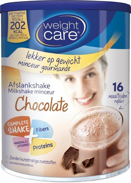 Weight Care Milkshake Drinkmaaltijd - Chocolade - 436 gram - 16 maaltijden