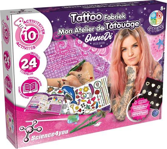 Science4you - OnneDi Tattoo Fabriek - Experimenteerdoos - 10 Experimenten - STEM Speelgoed