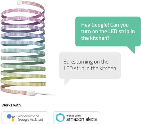 Hombli Smart LED Strip RGB – 5 Meter – Wit en Gekleurd Licht – RGB – Bediening met app of stem - Wifi
