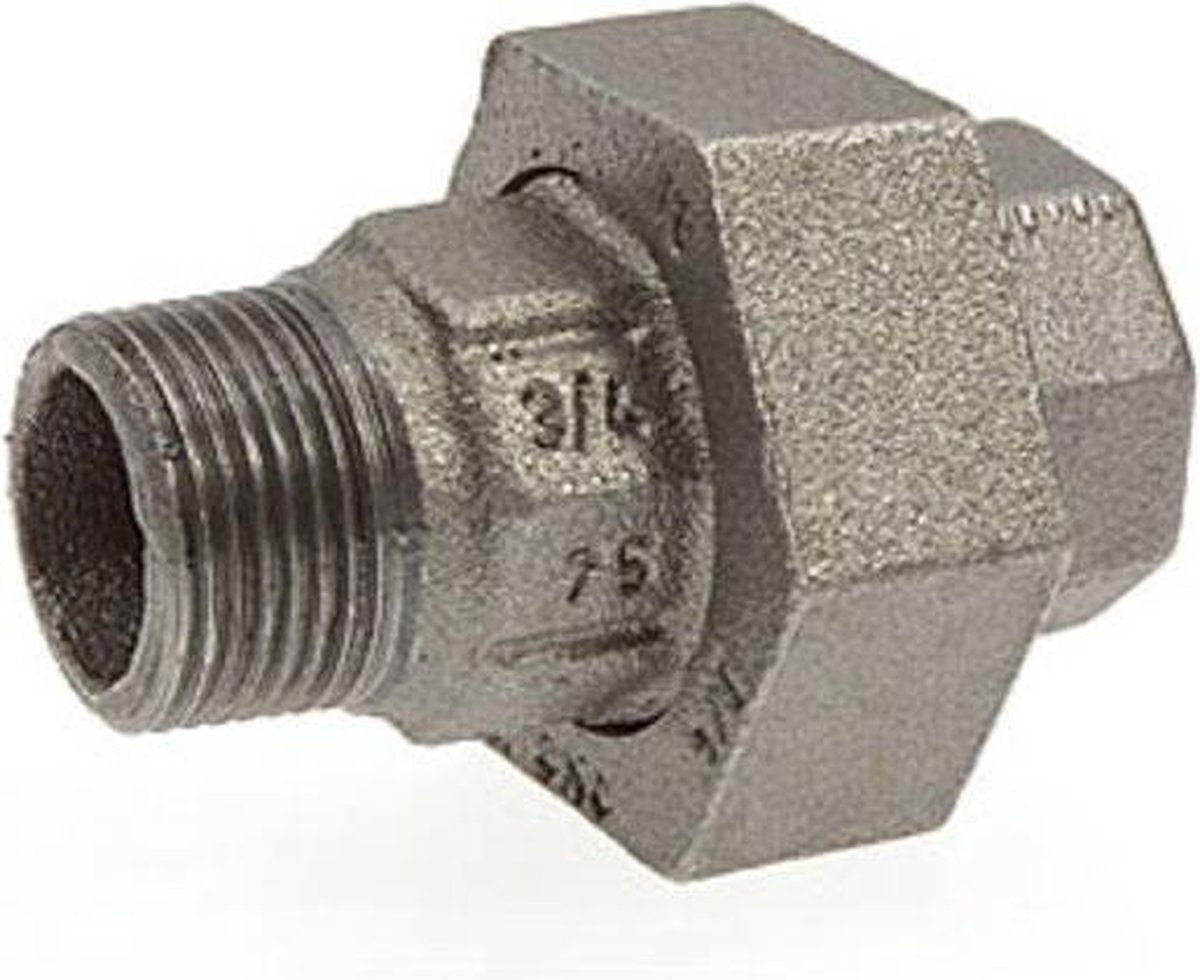Nefit Ind Nr341 koppeling conisch met binnen en buitendraad 1 1/2 zwart