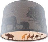 Olucia Safari - Kinderkamer plafondlamp - Grijs - E27