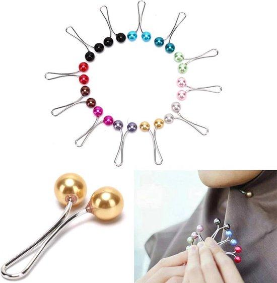  Hoofddoek Broche Hoofddoek Pinnen Hijab Pins Hijab Clips 12 stuks Diverse kleuren